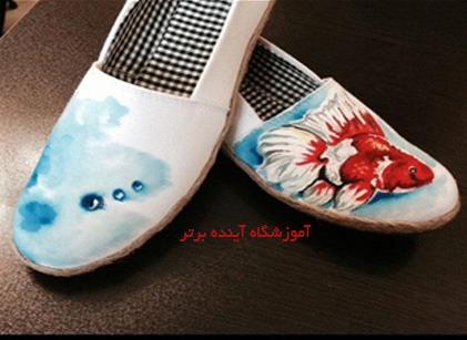 کفش نقاشی شده